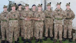 The winning Battalion team in the Military Skills Competition